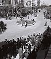 "MAGEN DAVID"" SQUARE IN TEL AVIV DURING THE PROTEST STRIKE AGAINST THE BRITISH LAND SALE ACT. הפגנת מחאה בכיכר ""מגן דוד"" בתל אביב, נגד חוק גזירת הקרקע D817-061.jpg"