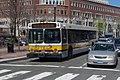 MBTA route 72 75 bus at Eliot Square, April 2017.JPG