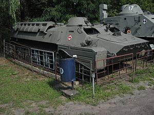 MT-LB armored personnel carrier at the Muzeum Polskiej Techniki Wojskowej in Warsaw (1).jpg