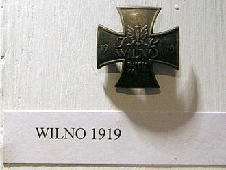 Vilna offensive - Polish Army badge commemorating the fighting over Wilno in the spring of 1919