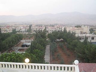 Maarat Saidnaya Village in Rif Dimashq Governorate, Syria