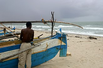 Mahajanga - One of the beaches north of the city