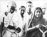 Gandhi and Sarojini Naidu