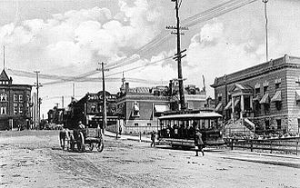 Hull, Quebec - Corner of Main and Bridge Streets in Hull, 1905