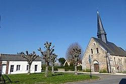 Mairie église Saint-Blaise Havelu Eure-et-Loir France.jpg