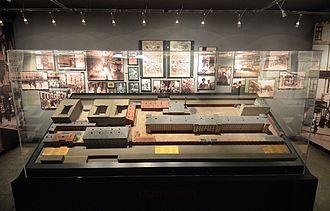 Pawiak - Model of the Pawiak prison in the Pawiak Museum in Warsaw