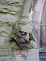 Male stone head on Christ Church west doorway - geograph.org.uk - 1546842.jpg