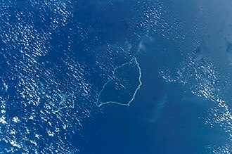 Aur Atoll - NASA picture of Aur (left) and Maloelap (centre) Atolls