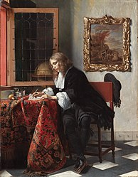 Gabriël Metsu: Man Writing a Letter