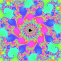 Mandelbrot set zoom with continous escape time.png