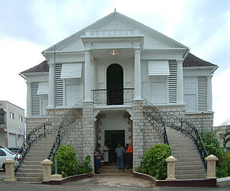 Mandeville, Jamaica - The Courthouse, Mandeville (1901)