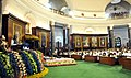Manmohan Singh addressing at the function to mark the 60th anniversary of the first sitting of the Parliament of India, in Central Hall of Parliament House, in New Delhi. The President, Smt. Pratibha Devisingh Patil (1).jpg