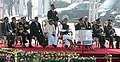 Manmohan Singh at the Prime Minister`s NCC Rally, in New Delhi. The Defence Minister, Shri A. K. Antony, the Minister of State for Defence, Dr. M.M. Pallam Raju, the Defence Secretary, Shri Pradeep Kumar.jpg