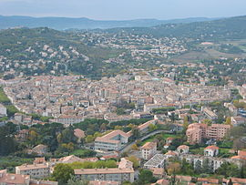 Manosque seen from the Mont d'Or