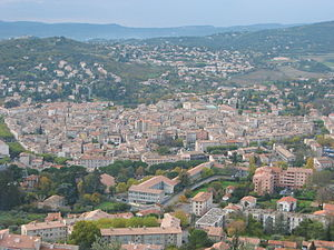 Manosque - Manosque seen from the Mont d'Or