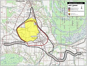 Battle of Mansura - Map of Mansura Battlefield core and study areas by the American Battlefield Protection Program.