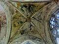 Mantes-la-Jolie (78), église Sainte-Anne de Gassicourt, croisillon sud, voûte (peinture murale - anges tenant les instruments de la Passion).JPG