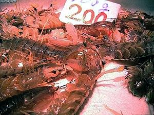 Oratosquilla oratoria - Image: Mantis shrimp 200yen