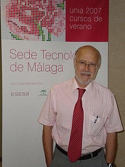 Manuel Toharia en los Cursos de Verano 2007 de la Universidad Internacional de Andaluc�a, en la Sede Tecnol�gica de M�laga.