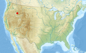 A map of the United States showing the location of Boise National Forest
