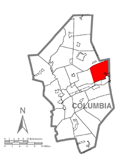 Map of Briar Creek Township, Columbia County, Pennsylvania Highlighted.png