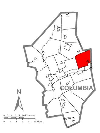 Briar Creek Township, Columbia County, Pennsylvania - Image: Map of Briar Creek Township, Columbia County, Pennsylvania Highlighted