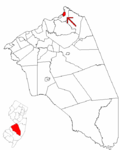 Map of Burlington County highlighting Bordentown.png