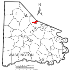 Map of Cecil-Bishop, Washington County, Pennsylvania Highlighted.png