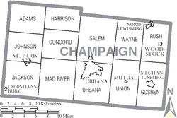 Municipalities and townships of Champaign County