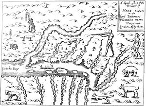 George Alsop - Alsop's map of the Province of Mary-land, 1666