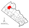 Map of Haycock Township, Bucks County, Pennsylvania Highlighted.png
