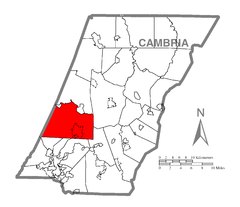 Map of Jackson Township, Cambria County, Pennsylvania Highlighted.png