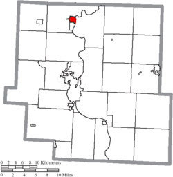 Location of Dresden in Muskingum County