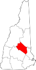 Map of New Hampshire highlighting Belknap County.svg