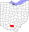 State map highlighting Pike County