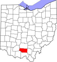 Map of Ohio highlighting Pike County.svg