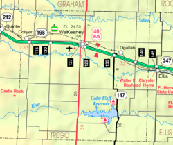 KDOT map of Trego County (legend)