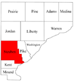 Map of Warren County Indiana highlighting Steuben Township.png