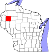 State map highlighting Barron County