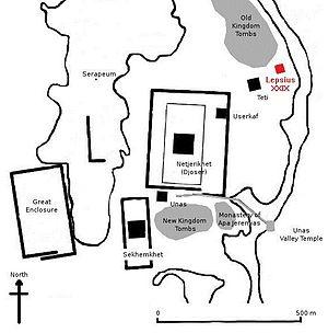 Menkauhor Kaiu - Image: Map pyramid Lepsius XXIX