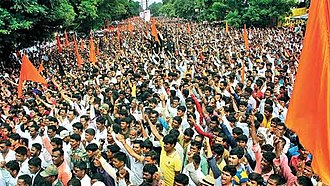 Maratha Kranti Morcha - Image: Maratha Kranti Morcha public protest