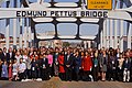 March 4, 2012 Administrator Jackson and community leaders complete the crossing of the Edmund Pettus Bridge in Selma, Alabama (6851045804).jpg