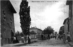 Marcollin, intérieur du bourg en 1910, p 118 de L'Isère les 533 communes - L Charvat phot-édit à Grand-Serre.jpg