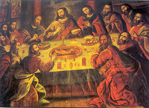 Marcos Zapata - The Last Supper by Zapata, in the Cuzco Cathedral