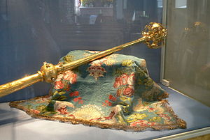 Archducal hat of Tyrol - Sceptre of the archduke, also kept at Mariastein