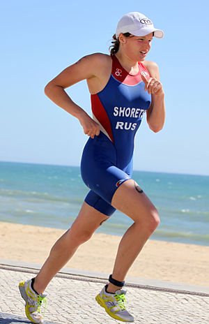 Mariya Shorets - Mariya Shorets at the European Cup triathlon in Quarteira, 2011.