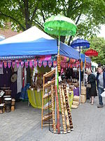 File:Market stalls in St. George's Street - geograph.org.uk - 1283574.jpg