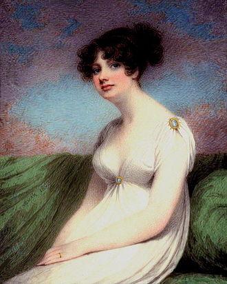 Mary Anne Clarke - Portrait of Mary Anne Clarke, by Adam Buck, 1803