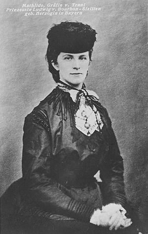 Duchess Mathilde Ludovika in Bavaria - Image: Mathilde, Grafin von Trani