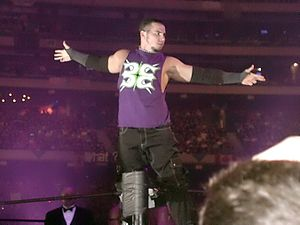 Matt Hardy - Hardy making his entrance at the WrestleMania X8 as one-half of The Hardy Boyz
